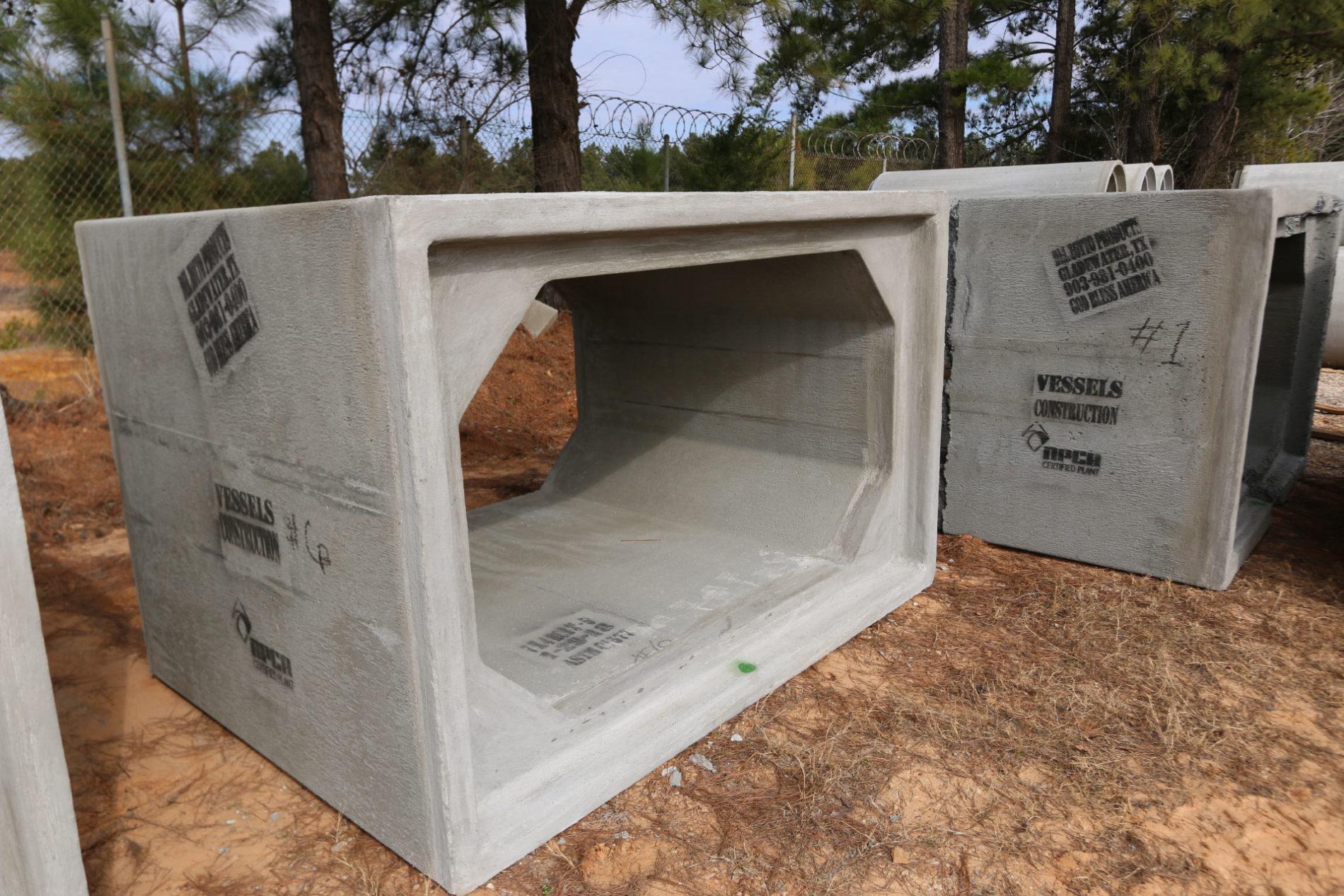 Angle View of Box Culvert